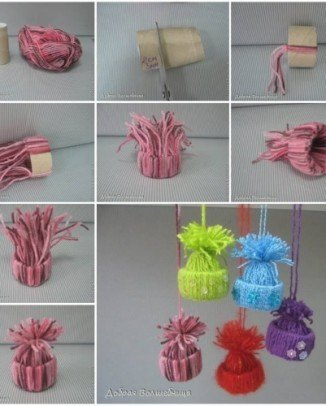 gorritos de lana para decorar
