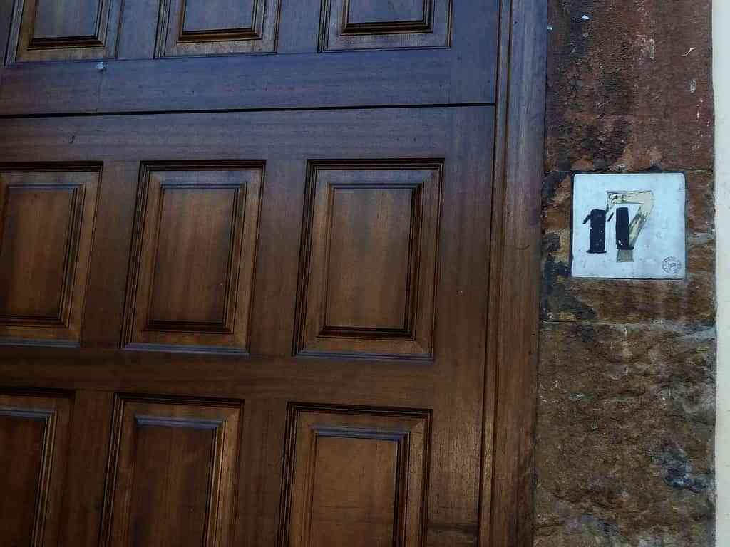 Números de las habitaciones