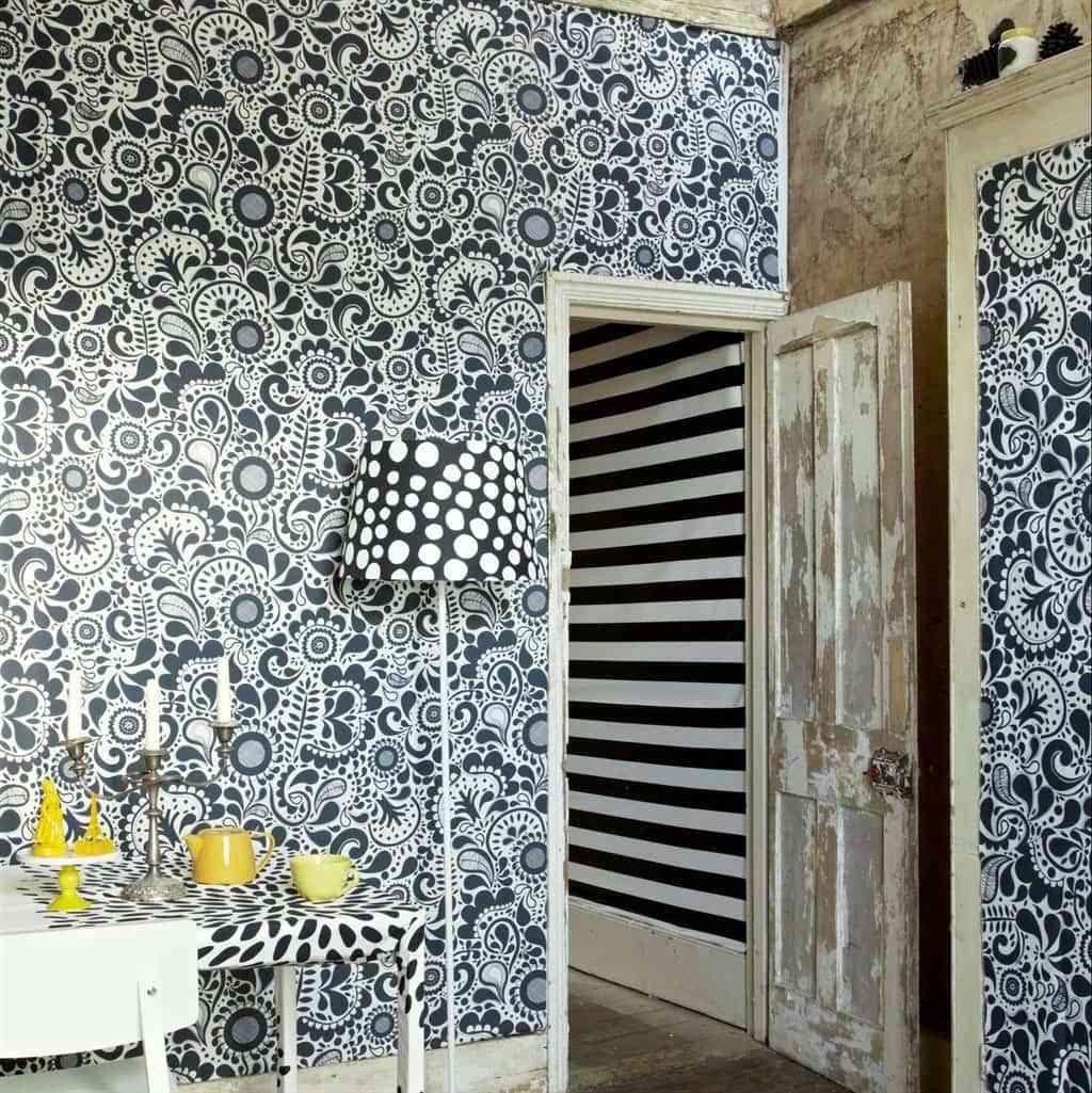 Ideas para decorar las paredes con telas - Telas para tapizar paredes ...