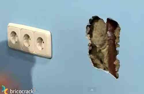 reparar agujero en tabique de yeso