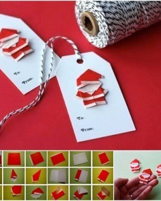 santa claus de origami