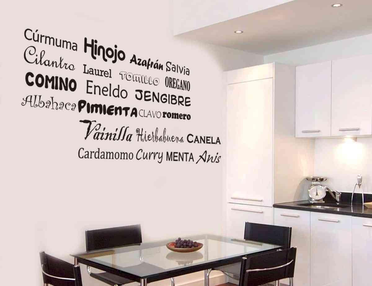Ideas para decorar las paredes de la cocina - Vinilo de cocina ...