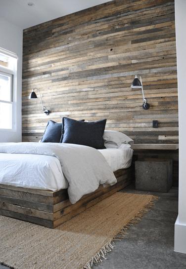 3 paredes de madera