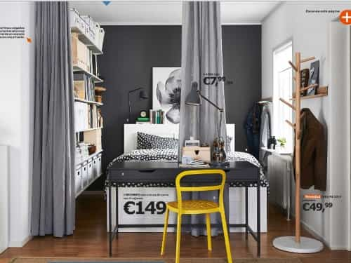 dividir dormitorio con cortinas