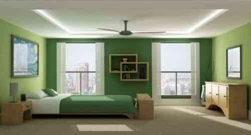 paredes verdes para el dormitorio