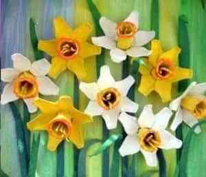 flores de narciso recicladas