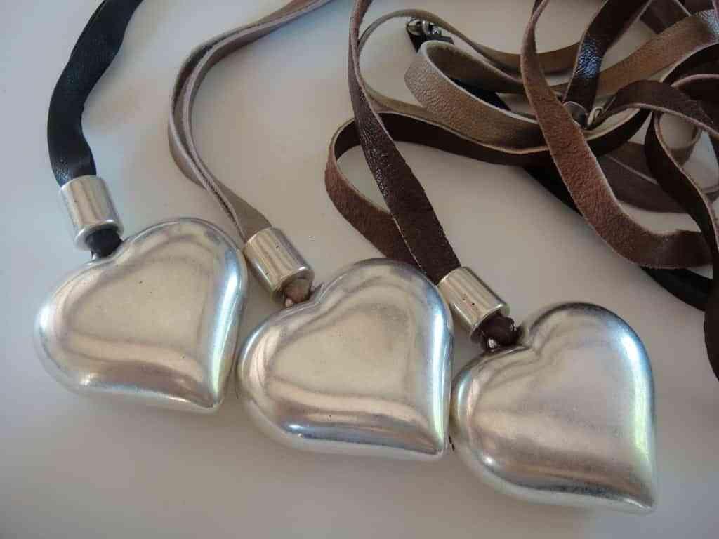 corazones de plata