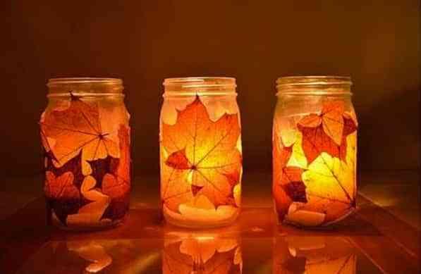 bote decorar hojas secas
