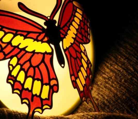 mariposa de plastico