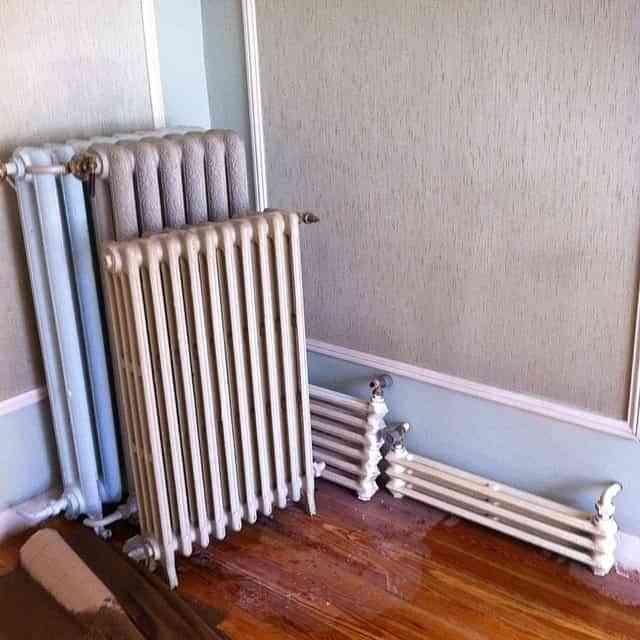 pintar los radiadores