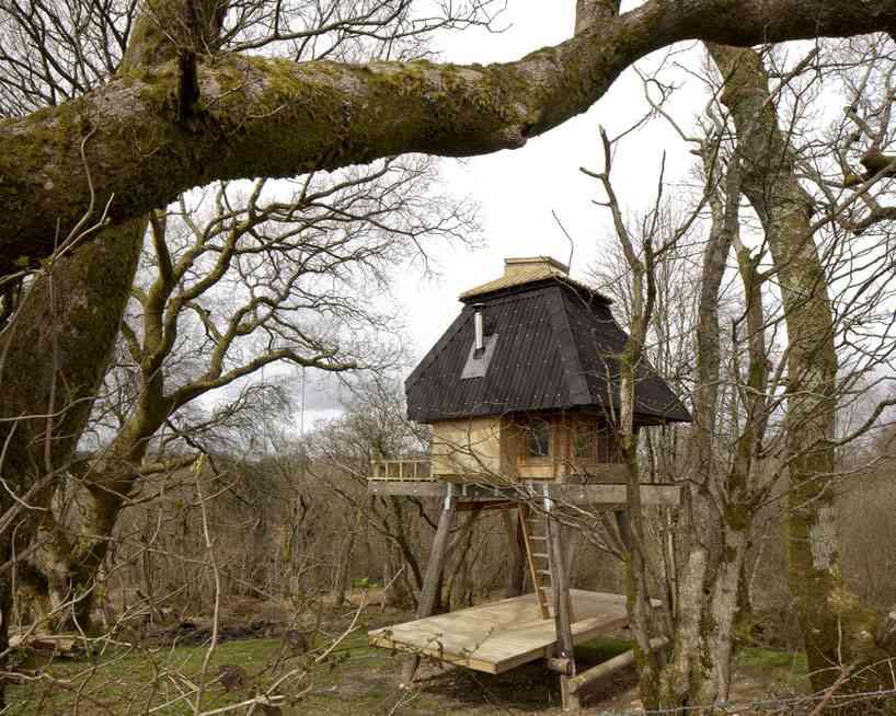 una casa de madera