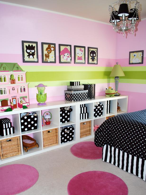 habitacion de una niña en rosa