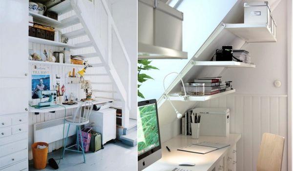 lugar de estudio bajo las escaleras