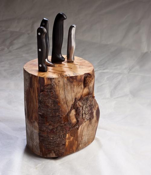 guarda cuchillos de madera