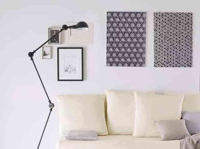 adornar las paredes en blanco y negro