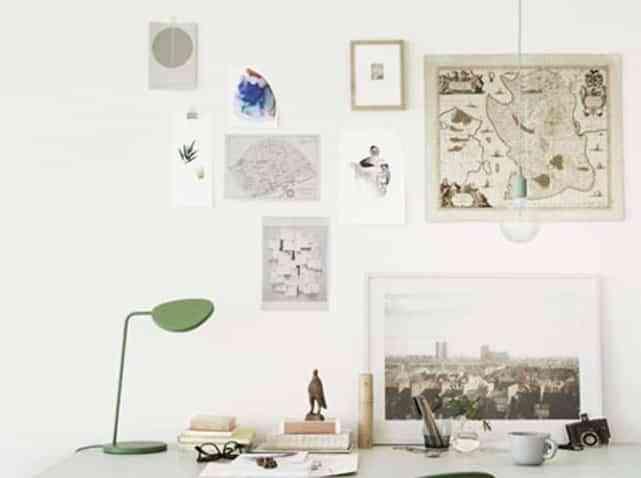 Adornar las paredes con recuerdos
