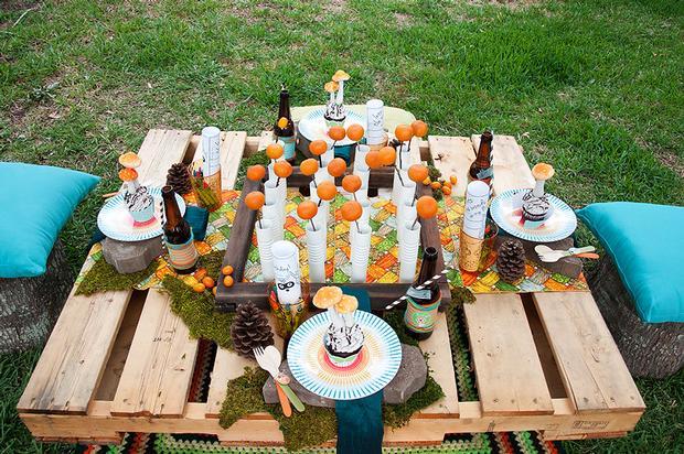 mesa montada en pale