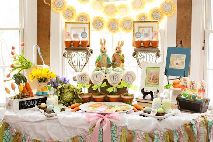 mesa decorada para fiesta