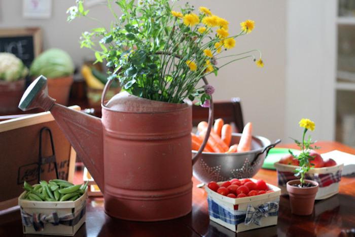 fiesta rustica con hortalizas