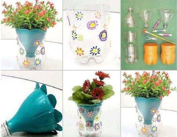 maceta botella ideas diy para decorar