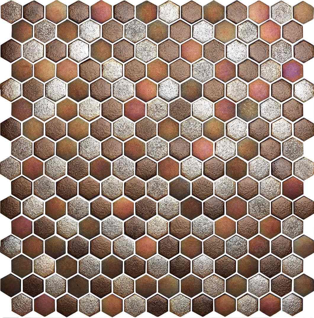 decorar paredes del baño con mosaico de vidrio