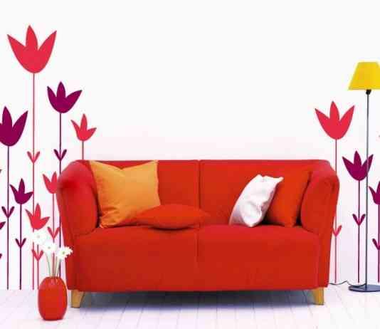 vinilos decorativos de flores