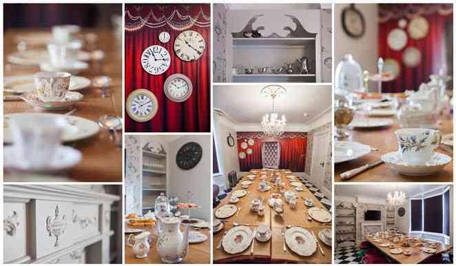 wonderland house decoración de alicia en el país de las maravillas