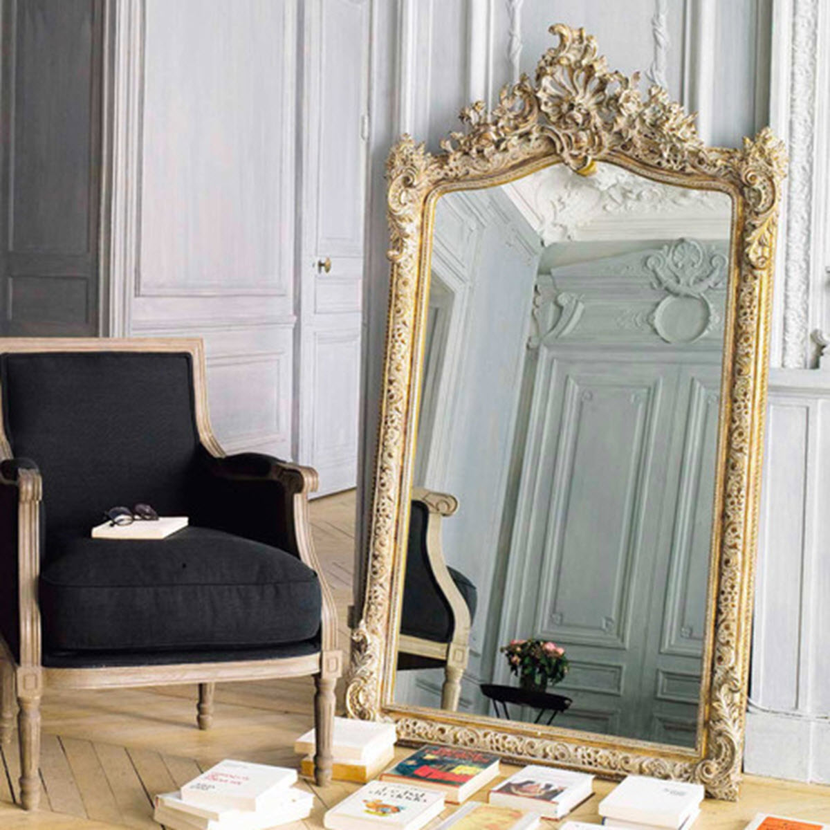 Espejos decorativos ideales para tu sal n for Maison du monde cuadros