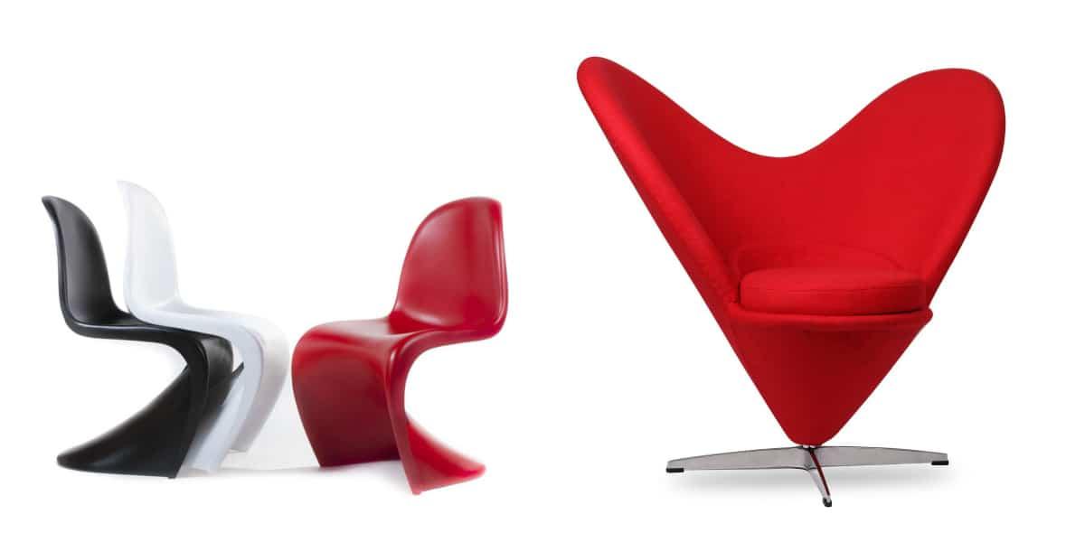 Silla Panton Classic y Heartcone Chair de Verner Panton en Superestudio.com