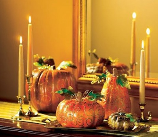 decorar la mesa en Halloween