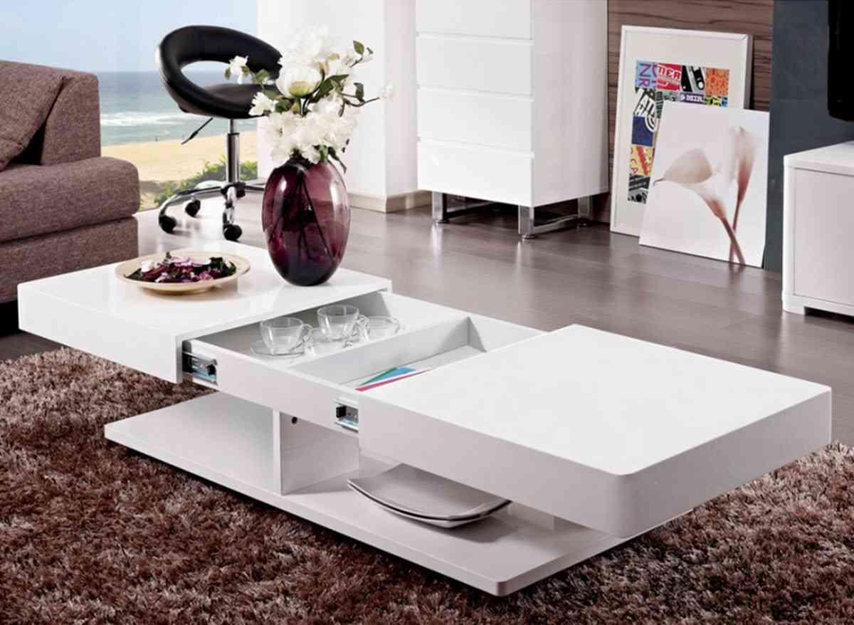 Increíble Mesas Con Muebles De Espacio De Almacenamiento Viñeta ...
