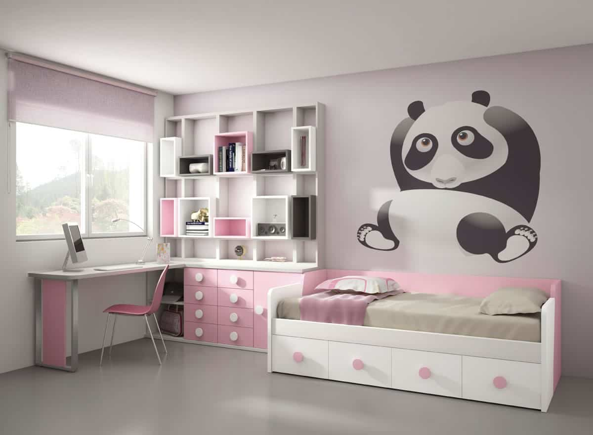 Ideas para decorar dormitorios infantiles for Cuartos decorados jovenes