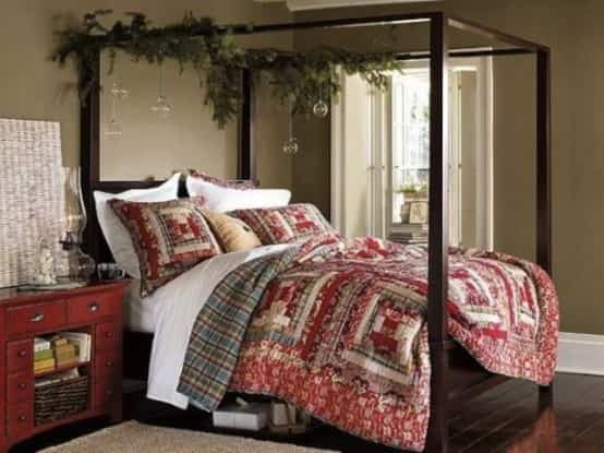 Darle estilo a un dormitorio en Navidad