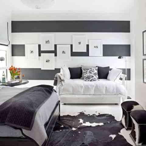 Cómo decorar en blanco y negro