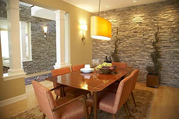 Originales paredes de piedra