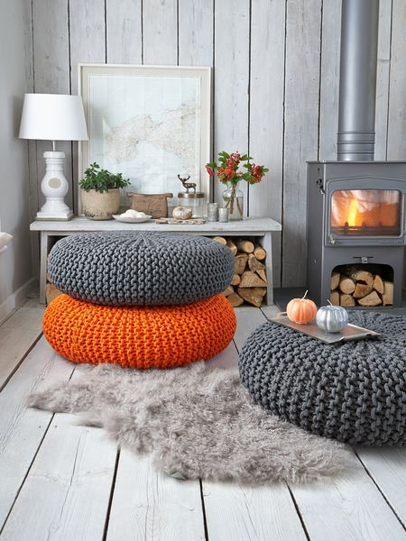 decorar con puffs de crochet IV