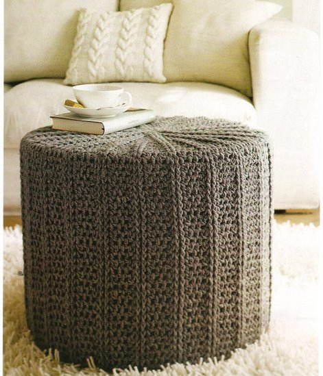 decorar con puffs de crochet VI