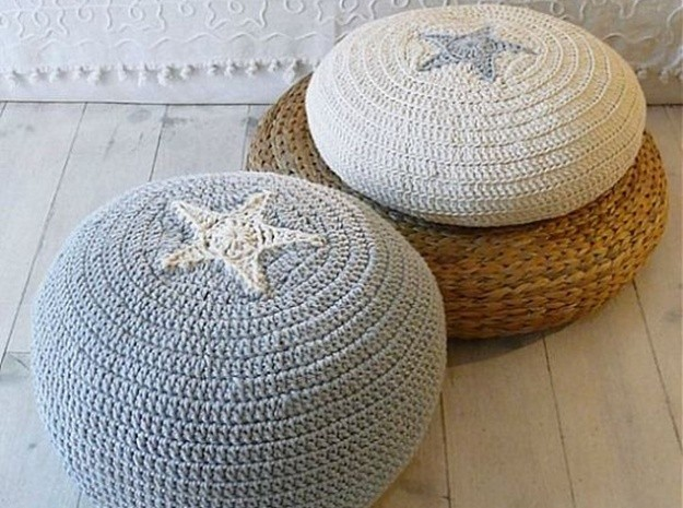 decorar con puffs de crochet XIII