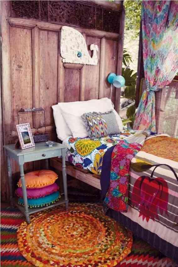 dormitorios infantiles de estilo bohemio IV