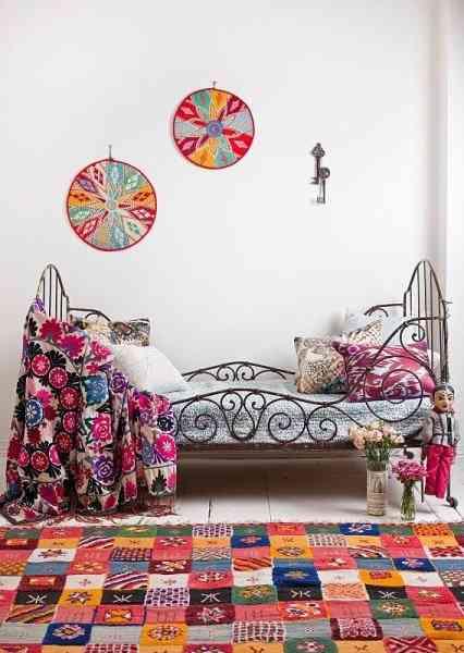 dormitorios infantiles de estilo bohemio IX