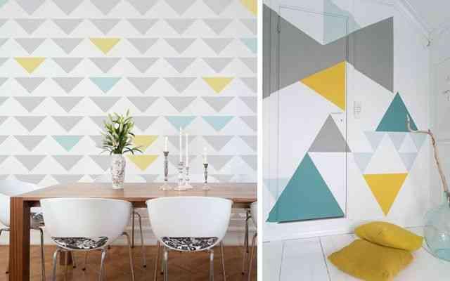 Pintar paredes de forma original y transformar tu hogar - Formas de pintar paredes ...