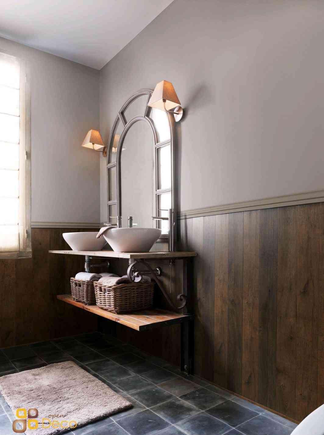 Revestimientos de madera para los baños