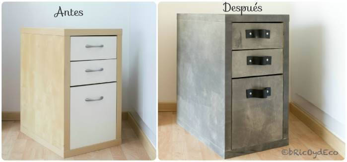 chalk paint - antes-despues-cajonera-industrial