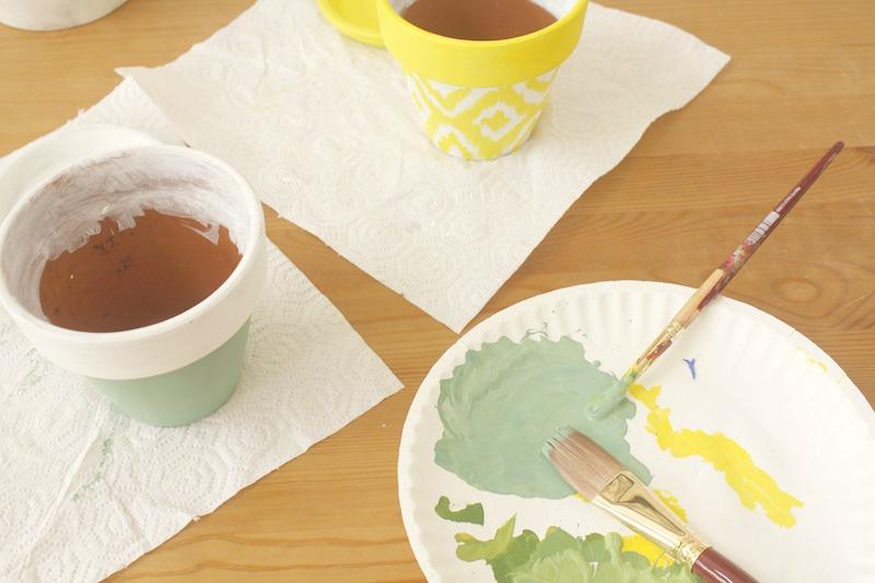 tunear maceteros con pintura VII