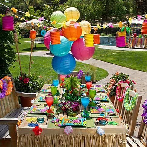 decoracion de una fiesta de verano XII