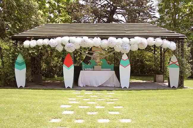 decoracion de una fiesta de verano XIV