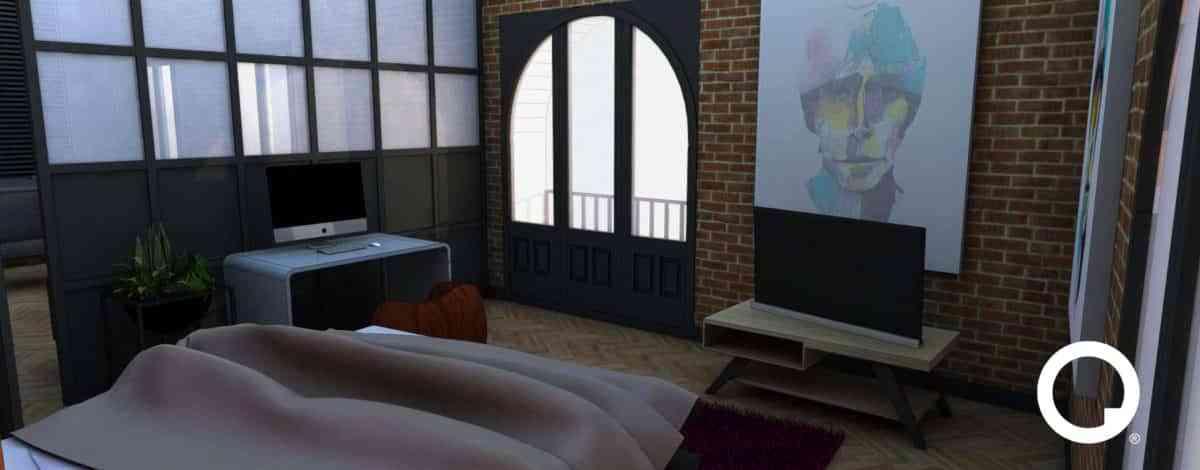 Reforma de piso con mezcla de estilo retro y moderno