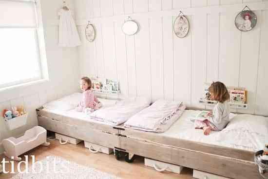 C mo organizar los dormitorios de dos camas de forma creativa - Habitaciones infantiles de dos camas ...