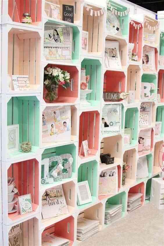 Ideas para pintar cajas de madera y volver a integrarlas Pintar caja madera