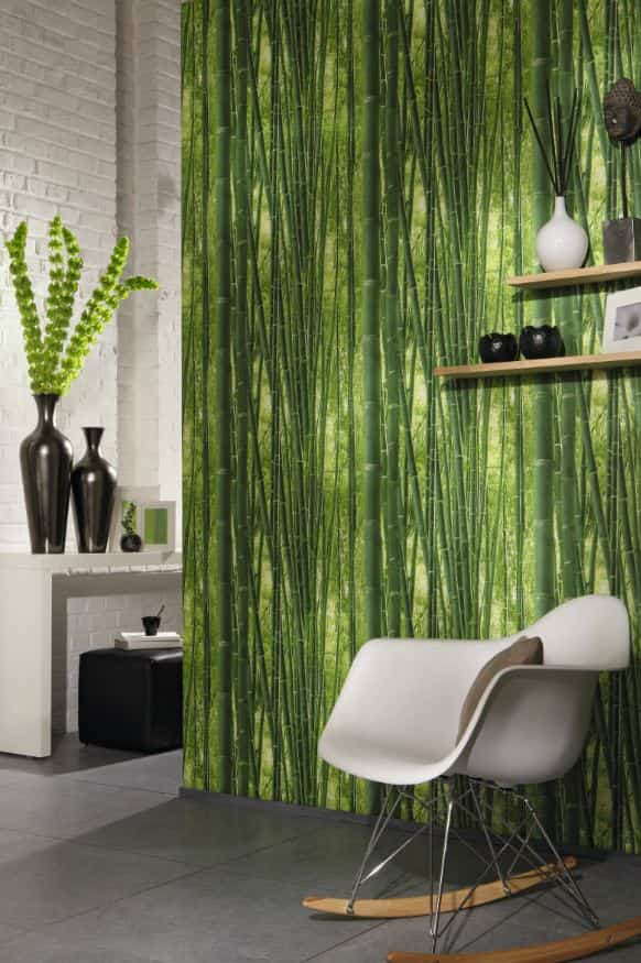 decorar con estilo tropical bambu